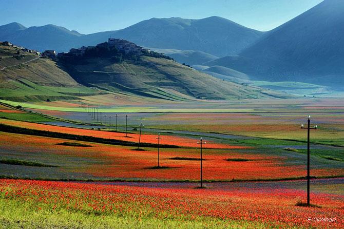 mooi uitzicht bij Norcia in Umbrië